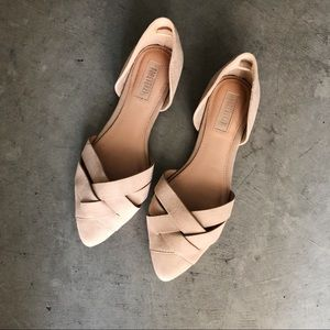 Forever 21 Nude Faux Suede Flats